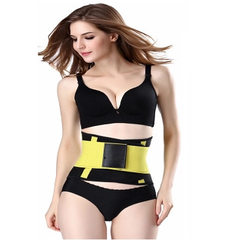 Europe and the United States men`s and women`s sports belt postpartum waist belt girdle ladies girdl yellow s.