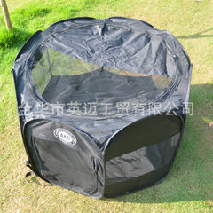 Summer manufacturers can disassemble and wash the octagonal pet fence Oxford cloth waterproof dog sh brown 38 * 58