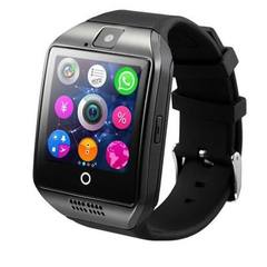 Q18 smart watch bluetooth card smart wear elegant radian fashion mobile phone watch gift manufacture Black English