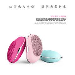 厂家批发 mini 硅胶电动声波洁面刷新款家用洗脸刷迷你防水洁面仪 玫红色