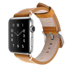It is suitable for the new Apple Watch strap with iwatch2 genuine leather strap with crazy horsehide 42 mm, brown