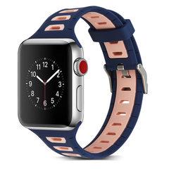 苹果硅胶表带苹果表带苹果双色表带苹果耐克表带applewatch表带 38mm【黑+炭黑】