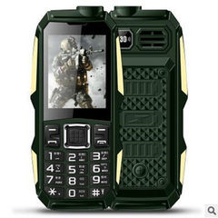 Military power small three - defense mobile phone ultra - long standby old people mobile phone old p black