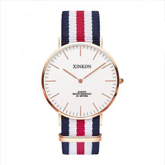 British style leisure women`s watch nylon with men`s expression cambuddy style fashion students ultr 0101 male money