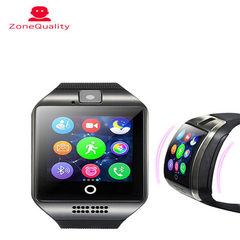 Curved Q18 smart watch, bluetooth phone, mobile phone card, wearable device, step loss prevention, d white