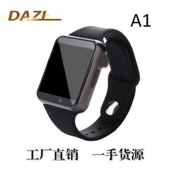 A1 bluetooth smartwatch movement meter step watch can plug in card phone smartwatch smart wear white