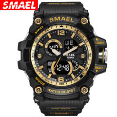 SMAEL SMAEL new watch outdoor sports multifunctional lovers popular men`s waterproof electronic watc Black gold