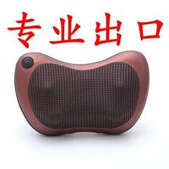 Massage pillow car home cervical massage machine neck massage cushion for leaning on wechat business 4 head of brown