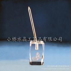 小桥水晶提供水晶水晶内雕工艺品 办公用品,笔插,水晶礼品 k9