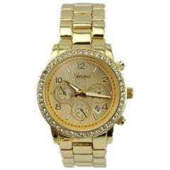 GENEVA GENEVA GENEVA ladies with diamond and calendar alloy quartz watches with low cost inventory h black