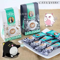 新品情侣猫进口马来西亚冲调饮品咖啡卡布奇诺摩卡味100g/盒批发 摩卡