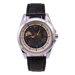 时尚热销winner男士全自动机械表真皮表带时尚镂空设计手表批发 1