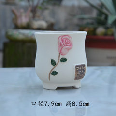 New style creative restoring ancient ways element burns hand color ceramic multi-flesh flowerpot con A style with natural color See the details