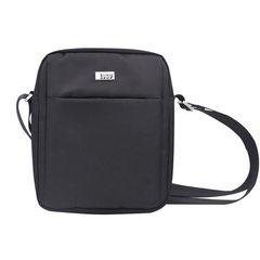 Leisure single shoulder bag men`s bag oblique satchel waterproof nylon outdoor sports middle-aged bu black