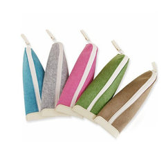Felt-pen bag felt bag felt bag non-woven cloth pen bag stationery bag student pen bag handbag statio red
