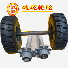 Trailer solid wheel 8.25-15 tunnel liner platform car solid tire 20 tons of heavy trailer supporting 8.25 drag the wheel - 15