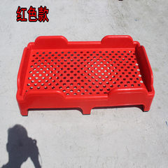 Kindergarten plastic bed children`s bed thickening plastic bed folding plastic bed folding whole pla red 138 * 58 * 25 cm