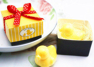 Wholesale hand-made soap creative duckling soap promotional gifts merchants can customize the LOGO Boxes of birds` eggs