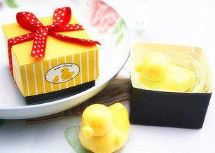 批发手工香皂 创意小鸭子香皂促销赠品商家活动礼品可定制LOGO 透明小鸭子