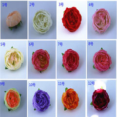 Imitation peony peony peony flower head wedding festival silk flower DIY headdress cloth rose head l 1