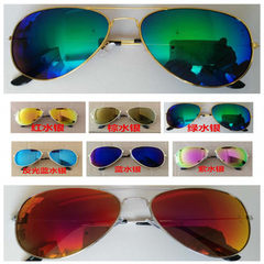The factory sells retro-colored sunglasses with reflectors and sun-dazzle lenses with 3025 hipster s Grey frame lens