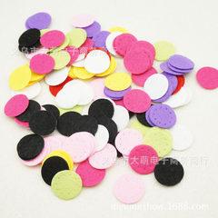 25mm nonwoven fabric round piece non-woven cloth decorative accessories DIY materials 8 colors whole Mei red