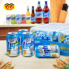 Cass beer keshi beer Korea beer 355ml*24 Shanghai general agent direct selling 355 ml * 24