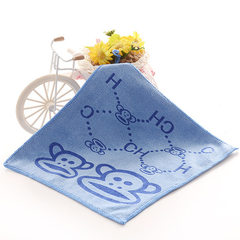 Manufacturer wholesale super fine fiber printing small square towel hook square towel hotel kinderga Printed kerchief blue 25... 25