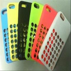 IPhone5C silicone phone cover 5c official mesh hole silicone cellphone case apple 5c official mesh c black The iphone 5 c