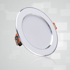 Direct selling LED lamp factory 3.5-inch 7W baking white paint/high-light anti-glare LED straw hat t 6500 k (cold white)
