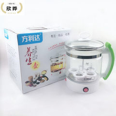 Raccoon teapot electric heat automatic health care kettle steaming teapot glass pu `er electric tea  silver
