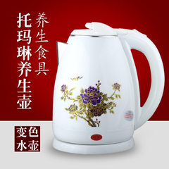 Wholesale gift plastic color changing kettle China health care kettle self - cut off electric kettle white