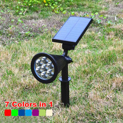 Solar lawn inserted floor lamp 7LED color change/fixed color outdoor landscape spotlights garden cou 7 the led light color