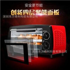 批发12L广东FLP家用电烤箱 上下加热 礼品多功能烘焙电烤箱 FVELIPO
