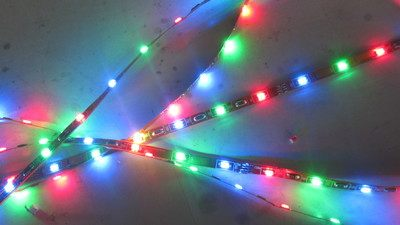 1206LED red, green, blue and white RGB flexible lamp strips are not waterproof RGB