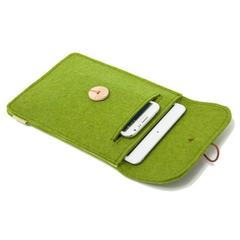 索然-苹果iPad mini 4保护套mini 2 3羊毛毡平板电脑内胆包袋手工 咖啡色 均码