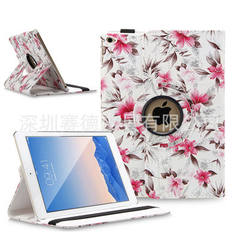 New ipadair2 camellia camellia rotating protection leather case in stock white ipad6