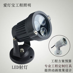 Outdoor advertising ground lawn lamp high power LED lighting lamp 3W 12V 220V 3000 k (warm white)
