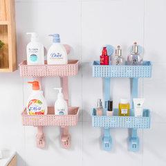 免打孔浴室置物架 壁挂卫生间吸壁式厕所马桶置物架塑料收纳架 北欧米