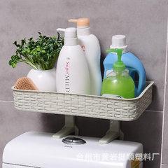 松业创意多功能置物架 吸壁式浴室马桶杂物收纳架 悬挂吸盘置物架 白色