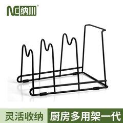 纳川创意厨房用品批发 多功能厨房置物架 厨房收纳多层置物架锅架 26X18X6.5cm三层
