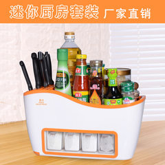 Factory direct sale multi - functional plastic kitchen shelf condiment rack cutter chopsticks rack a 38 * 17 * 22 cm white