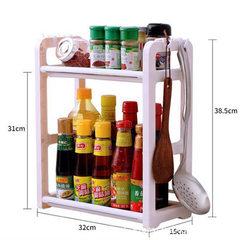 厨房置物架塑料调料架调味用品用具家用收纳落地储物筷子双层2厨 咖啡色