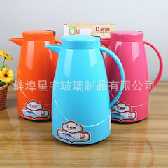 Factory direct sale european-style insulated coffee pot vacuum glass bottle hot pot advertising gift Three color, orange 1 l