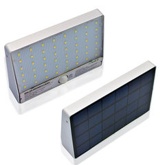 Amazon cross-border special solar garden lamp 48LED aluminum waterproof human induction outdoor wall Is the white light