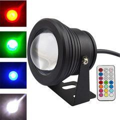 RGB水底灯 LED七彩遥控水下灯 10W 喷泉草坪 智能定时 遥控变色