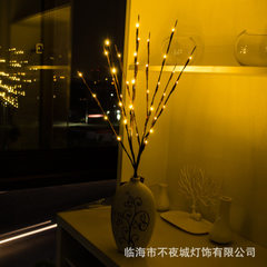 Led tree lamp color lamp battery lamp bar wedding decoration lamp outdoor creative courtyard living  Warm white