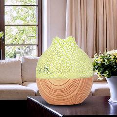 新款加湿香薰机创意花蕾加湿器精美礼品跨境专供亚马逊热卖加湿器 浅黄色木纹
