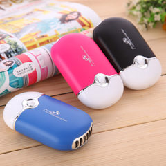 Manufacturers direct handheld USB charging mini fan outdoor portable cooling circular air conditioni pink