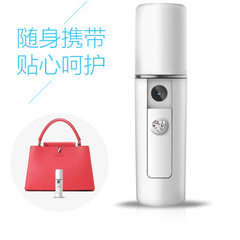 Convenient nanometer hand spray beauty moisturizer face humidifier cold spray hand steamer battery white